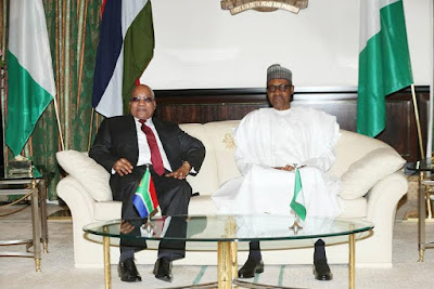 Buhari hosts Jacob Zuma in Abuja Nigeria