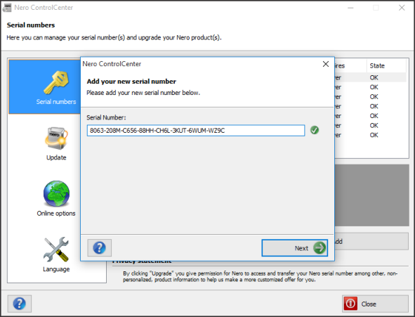 free download nero 6 full version with serial key