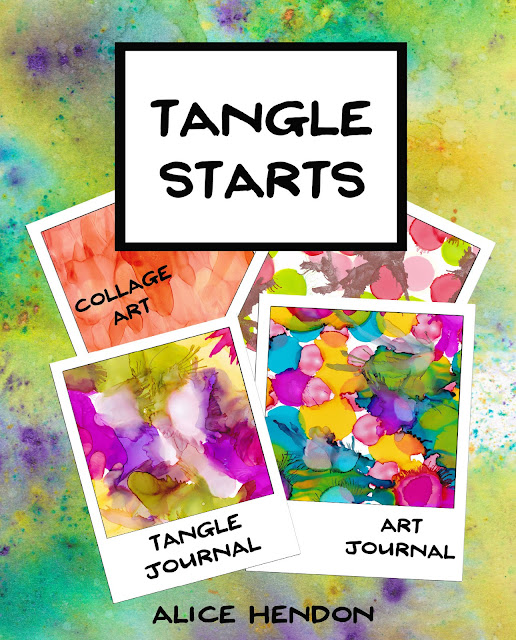 cover of my color book Tangle Starts - all ready for you to add your tangles to