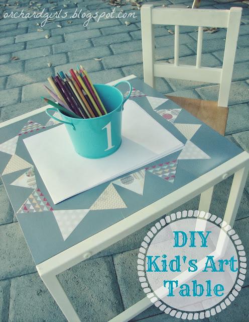 kids diy art table