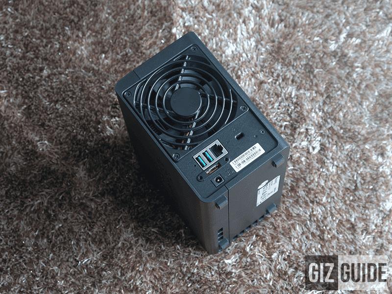 Fan, USB ports, LAN port, DC in