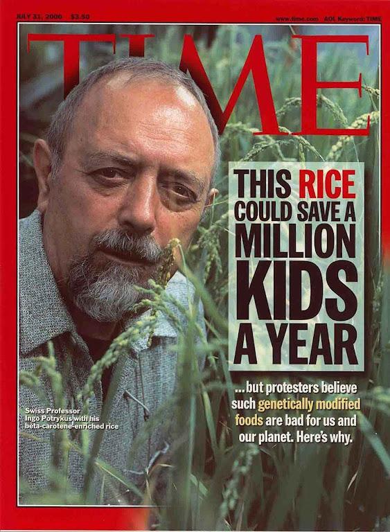 O arroz dourado pode salvar a vida de um milhão de crianças pobres, mas ecologistas fanáticos não querem.