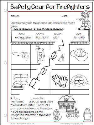 Fire Safety Week printable worksheets