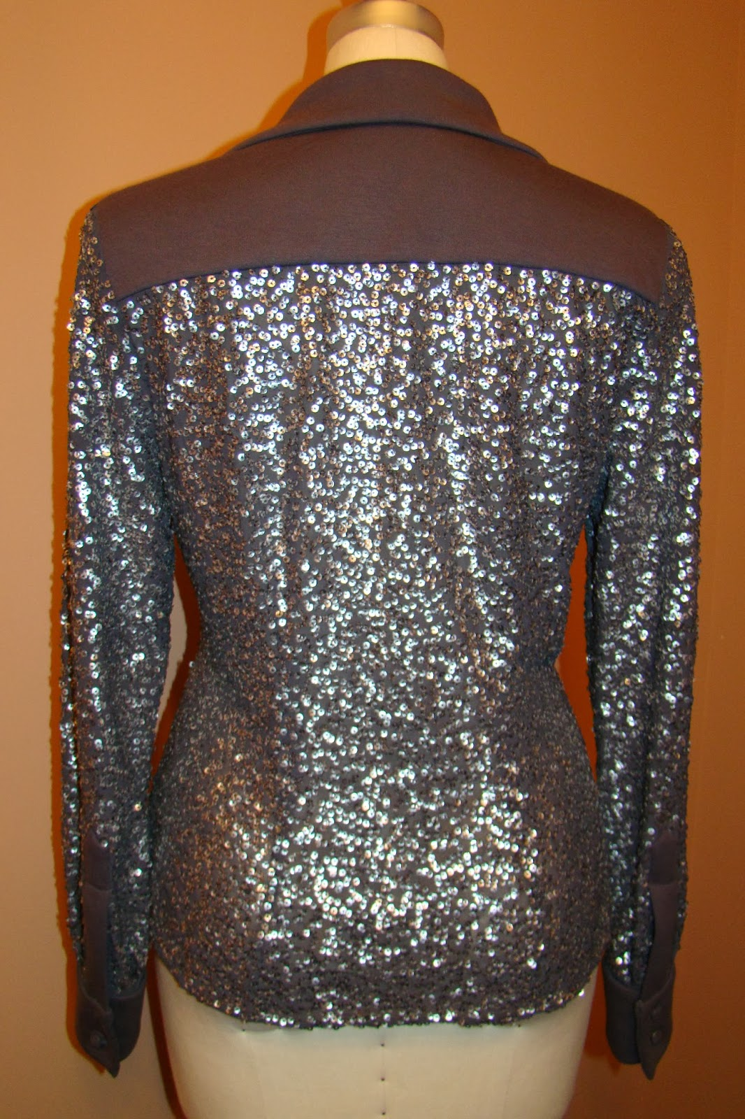 Did You Really Sew That?: Gray/Silver Sequin Blouse