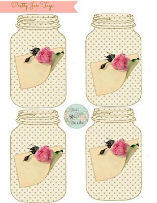 Pretty Jar Tags