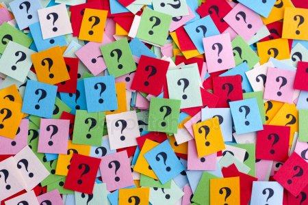 Ponto Interrogação coloridos