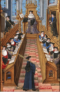 https://en.wikipedia.org/wiki/Medieval_university#/media/File:Meeting_of_doctors_at_the_university_of_Paris.jpg