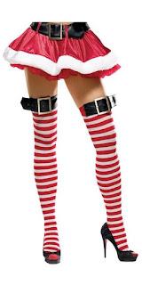 santa thigh highs