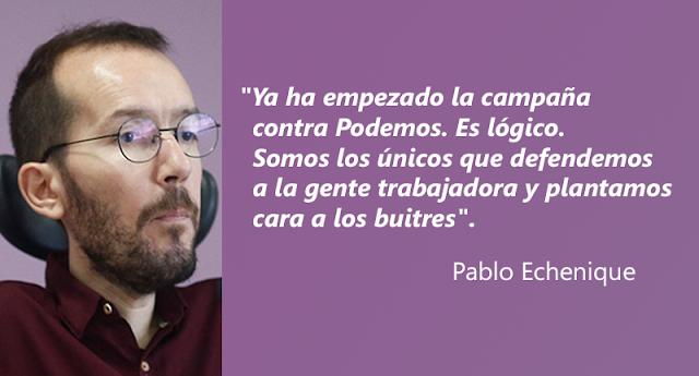 Pablo Echenique denuncia una campaña contra Podemos