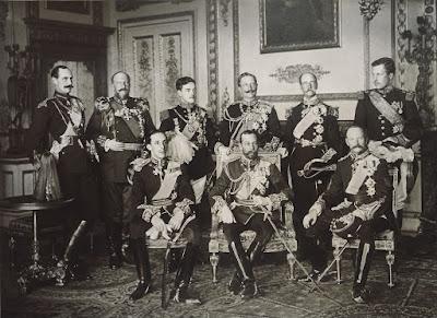 Nueve reyes en una sola fotografía - 1910