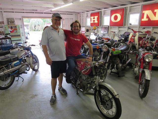 JB and Jason Cormier Pops Yoshimura 1962 Honda CB72 OddBike