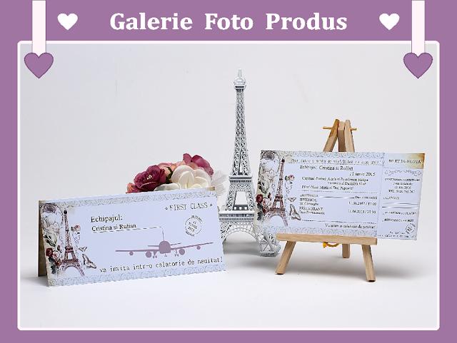 Invitatii Nunta Paris-Bilet de Calatorie