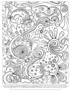 Coloring Pages For Adults Difficult Abstract