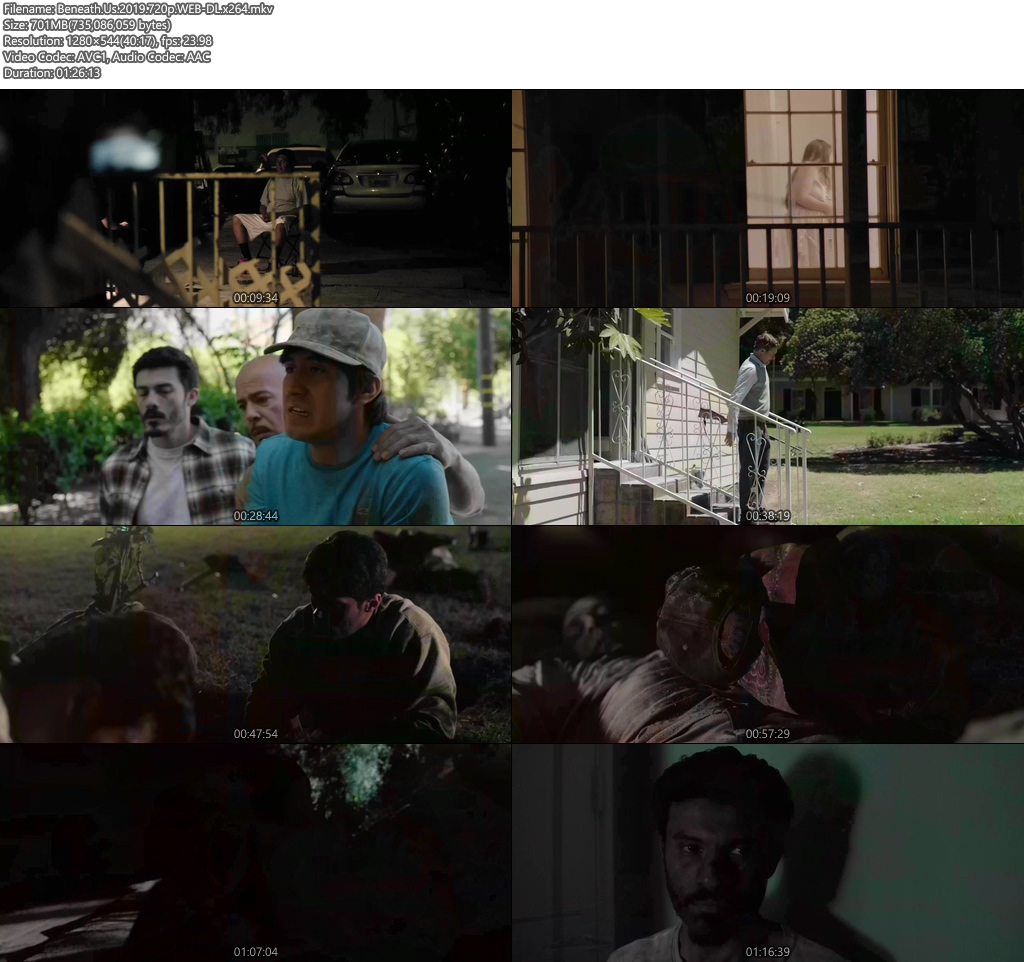 Beneath Us 2019 720p WEB-DL x264 | 480p 300MB | 100MB HEVC Screenshot