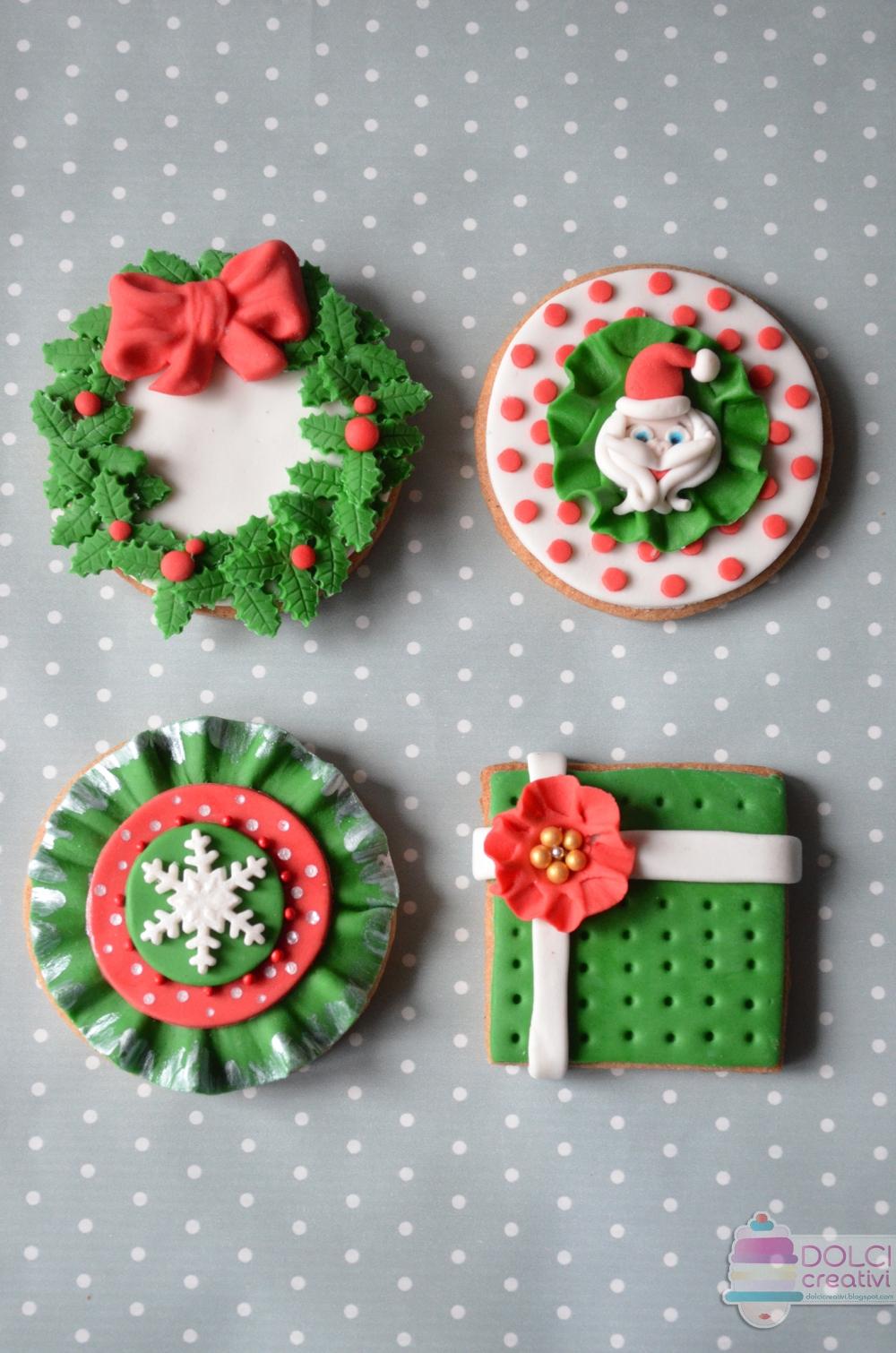 Torte Decorate Per Natale biscotti di natale decorati in pasta di zucchero