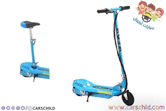 سكوتر حقيقي للأطفال الصغار يحمل اللون الأزرق يتوفر على ثلاث عجلات