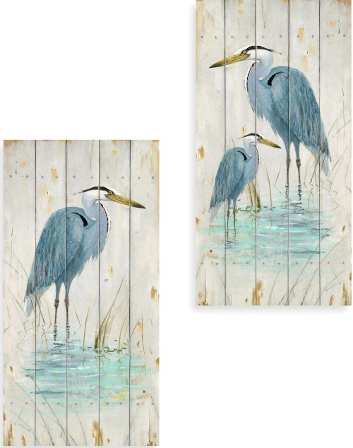Cute Blue Heron Wood Plaques MDF from Bed Bath u Beyond x Inches