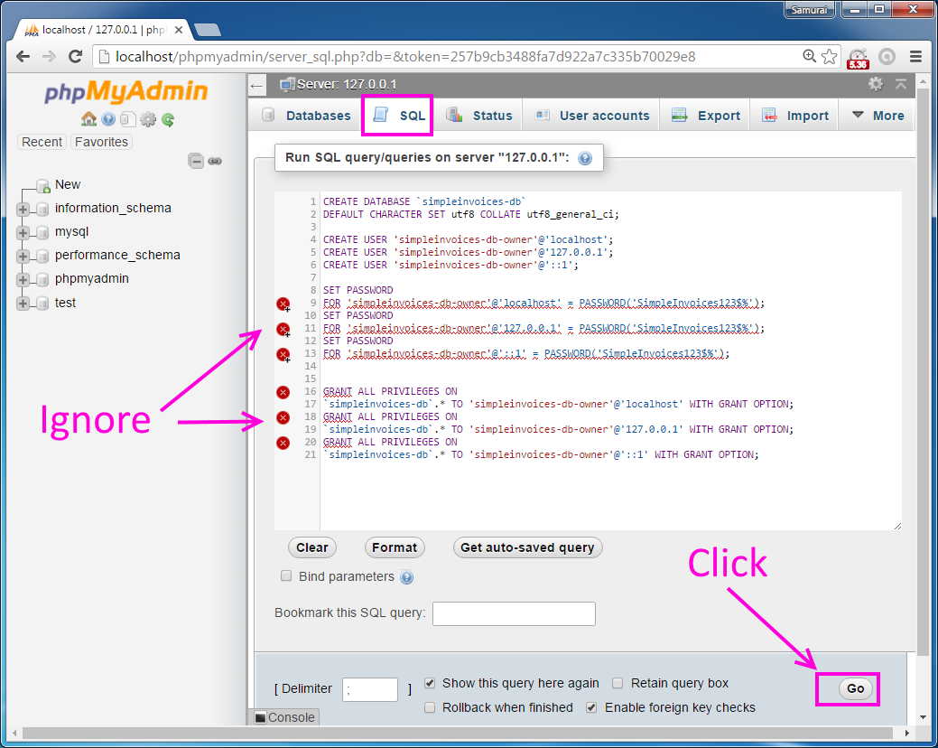 codingtrabla: install simpleinvoices on windows, Simple invoice