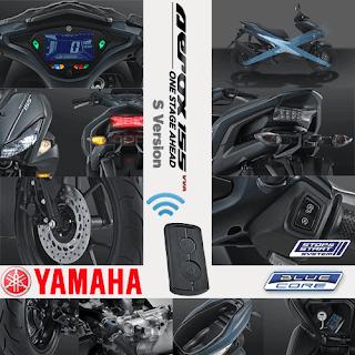 Fitur Spesifikasi Yamaha Aerox 155 VVA S Version
