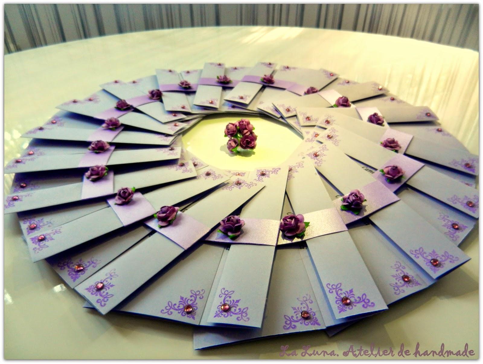 La Luna Invitatii Handmade Pentru O Nunta Mov