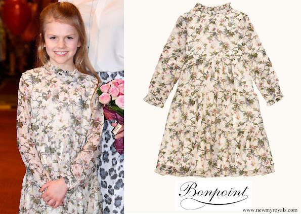 Princess Estelle wore Bonpoint maiween floral dress