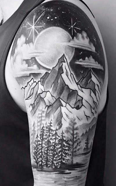 Amazing Sleeve Mountain Tattoos