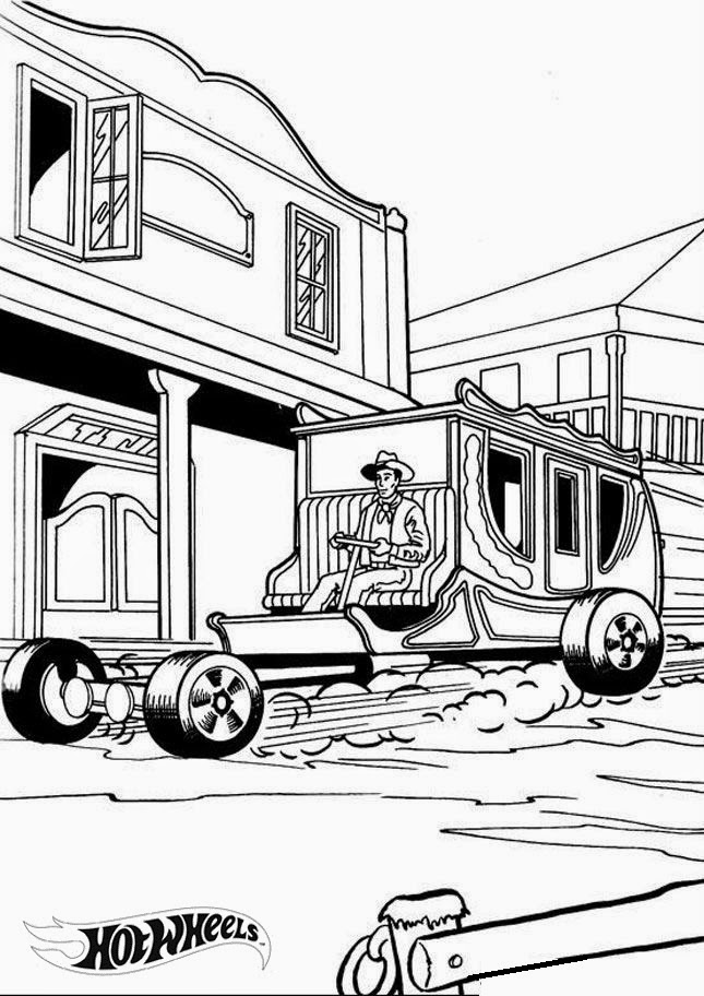 Hot Wheels Coloring Pages 24