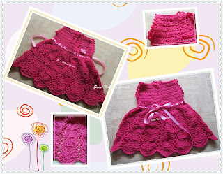 crochet baby dress, free crochet baby dress pattern