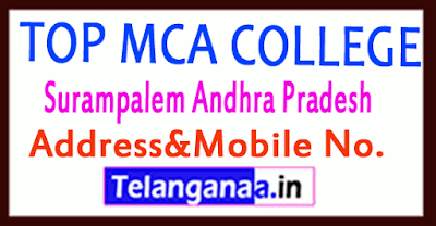Top MCA Colleges in Surampalem Andhra Pradesh