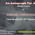 Cover Reveal:  AN AUTOGRAPH FOR ANJALI by Sundari Venkatraman
