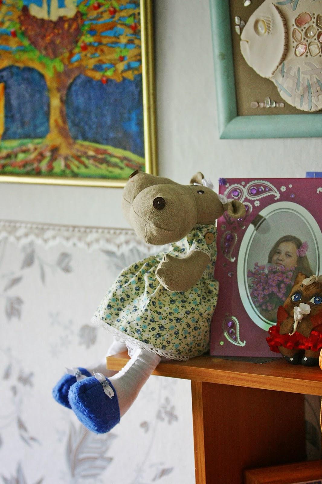 Бегемот, бегемотик, игрушка бегемот, текстильная игрушка, купить игрушку