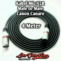 Kabel Mic XLR 4 Meter Male to Male Jack Canon Canare