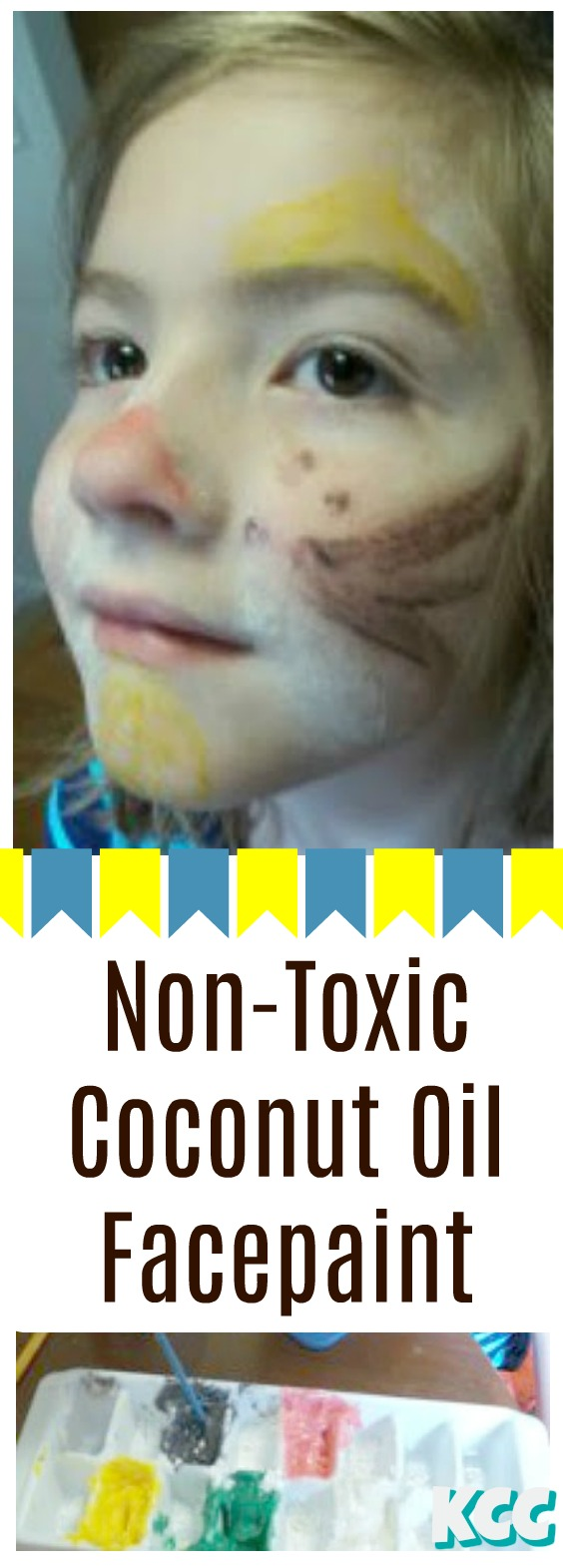make facepaint at home coconut oil edible eatable nontoxic kcc