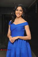 Actress Ritu Varma Pos in Blue Short Dress at Keshava Telugu Movie Audio Launch .COM 0004.jpg