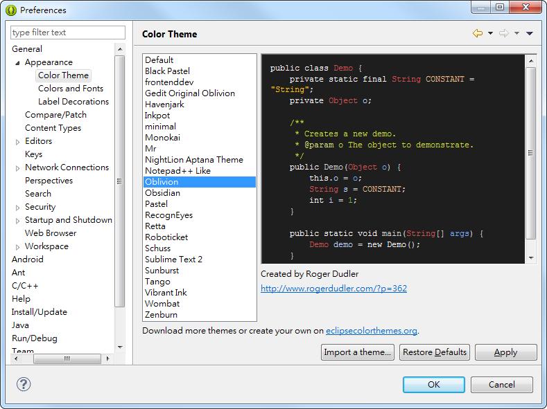 Eclipse 軟體編輯器,風格背景,字體設定 - 超方便