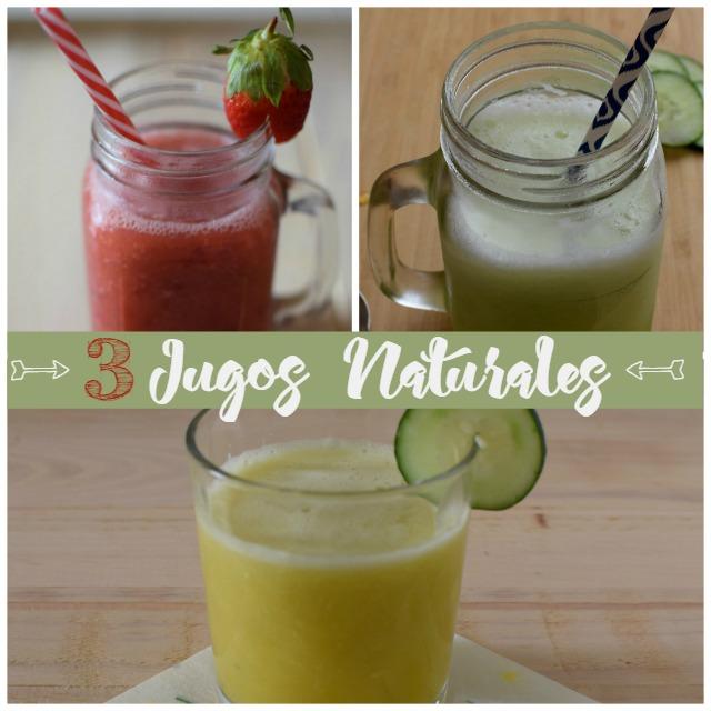 3 jugos naturales para comenzar bien tu día | http://bizcochosysancochos.blogspot.com/