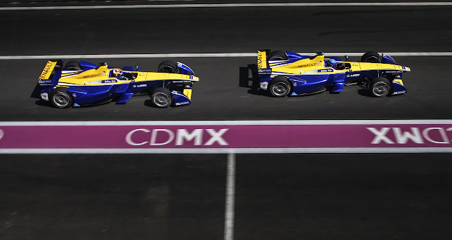 Two Renault FE cars