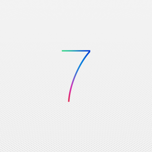 iOS 7 wallpaper for iPad Mini1