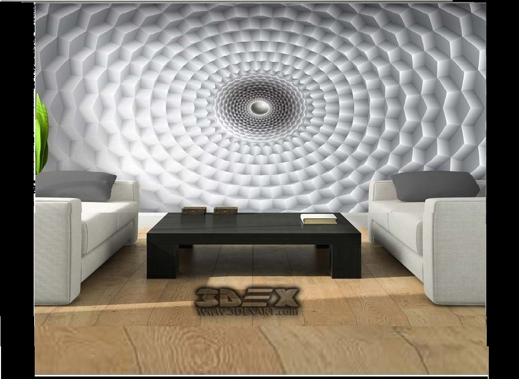 New 3D Wallpaper For Living Room 3D Wall Murals Designs Ideas 2019