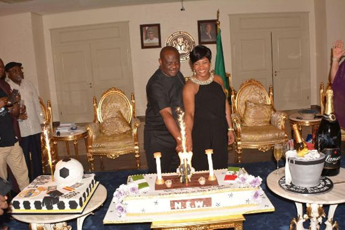 Wike and wife put on romantic display as governor turns 49