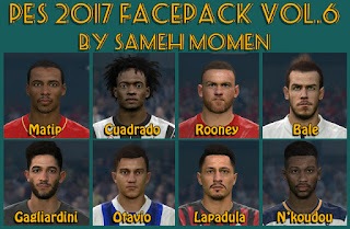 Sameh Momen PES 2017 Face Pack V6