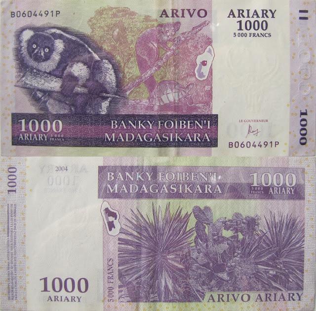 1000 ariary madagascar money