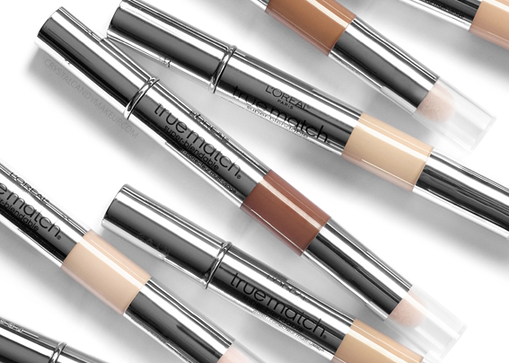 L'Oréal True Match Super-Blendable Multi-Use Concealer Review Swatches Before After MAC Equivalents