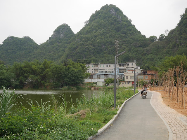 path at Panlong Lake Scenic Area in Yunfu
