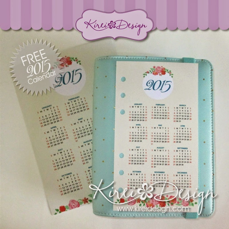 calendario 2015 freebie