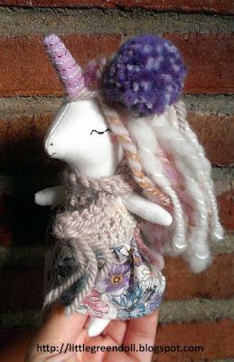 LibertyLavenderDolls Mini unicorn doll