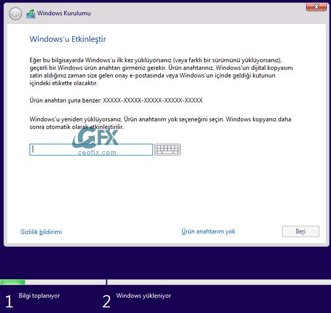 Windows'u etkinleştir - www.ceofix.com