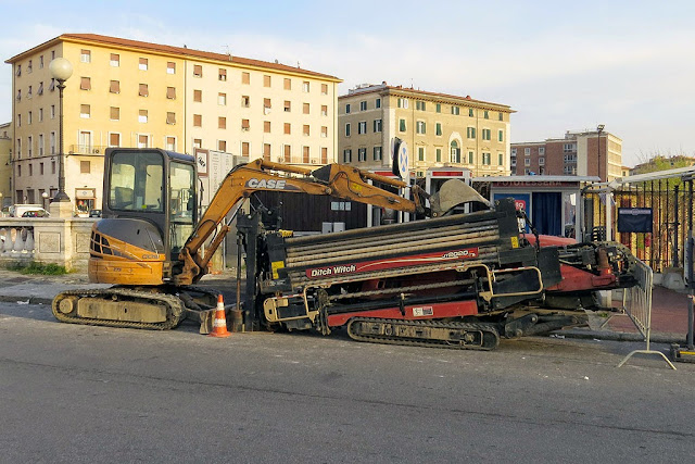 Ditch Witch horizontal directional drill, Livorno