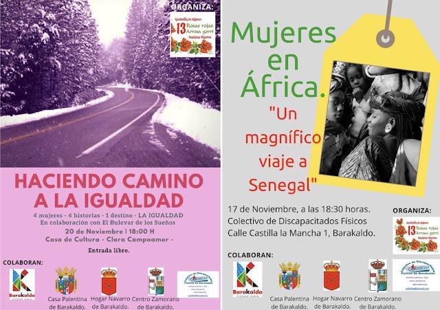 Carteles de las actividades de la asociación 13 Rosas Rojas