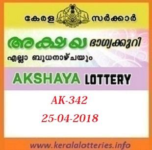 AKSHAYA AK-342 LOTTERY RESULT